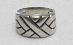 1960`S 925 STERLING SILVER MAN`S CRISS CROSS RING (Image1)