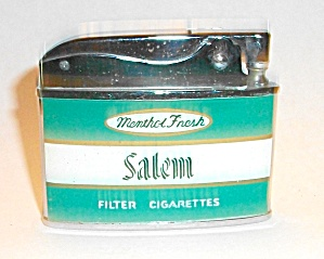 ZENITH FLAT LIGHTER ADVERTISING SALEM CIGARETTES (Image1)