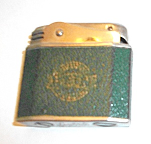 1940`S GREEN FAUX LEATHER LEPLAT NEU - ULM / D LIGHTER  (Image1)