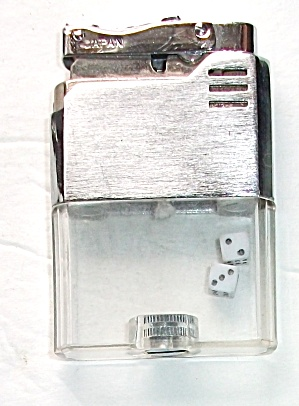 VINTAGE 1970`S WINDSOR VUE BRUSH CHROME DICE LIGHTER (Image1)