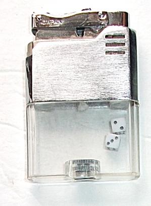 VINTAGE 1970`S WINDSOR VUE BRUSH CHROME DICE LIGHTER (Image1)