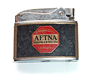 VINTAGE 1950`S HOWARD ADVERTISING AETNA FLAT LIGHTER (Image1)