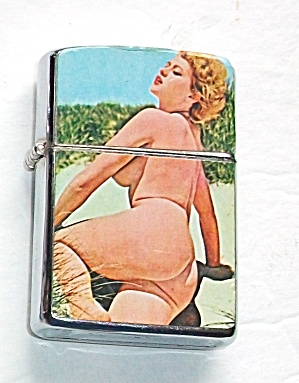 Never Used Vintage 1960`s Nude Pinup Lighter
