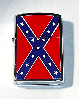NEW OLD STOCK REBEL FLAG DOUBLE SIDED LIGHTER (Image1)