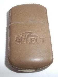 Winston Leather Lighter (Tobacciana-Lighters) at Boondockcabin