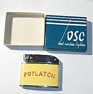 1960`s O.s.c. Advertising Potlatch Long Island Lighter