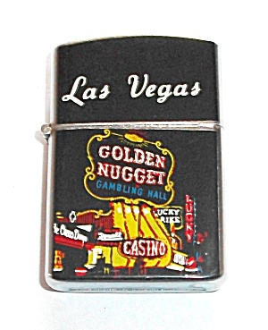 1960`s Golden Nugget Casino Lighter New Old Stock