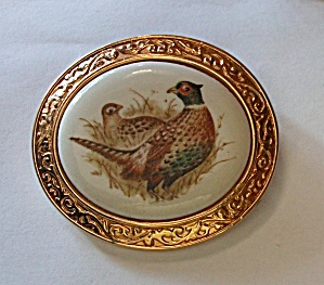 AVON SPLENDOR OF FALL THE PHEASANT  BROOCH / NECKLACE (Image1)