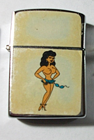 1960`S CARRIB JAPAN SEMI NUDE TOPLESS PINUP LIGHTER (Image1)