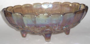 Carnival Glass Fruit Bowl (Image1)