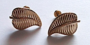 VINTAGE LORAN SIMS 1/20 12 KT GOLD FLORAL EARRINGS (Image1)