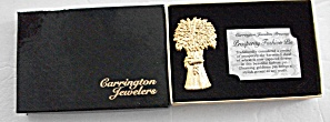 Vintage Boxed Gift Carrington Jewelers Textured Gold  (Image1)