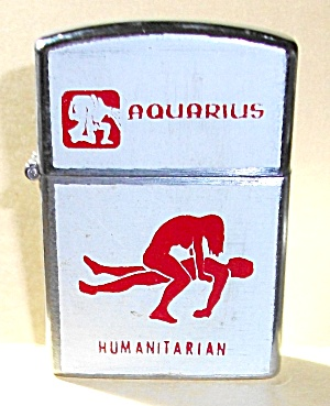 VINTAGE 1960`S NESOR JAPAN XXX AQUARIUS LIGHTER (Image1)