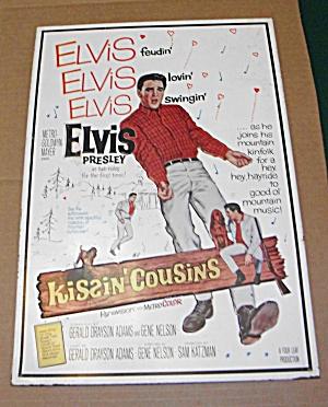 OLD TIN POSTER**ELVIS**KISSIN' COUSINS** (Image1)