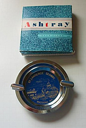 Vintage 1960`s St. Lawrence Seaway Massena New York Ash