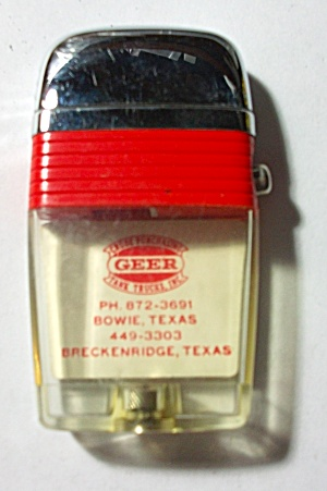 SCRIPTO ADV. GEER TANK TRUCKS TEXAS LIGHTER (Image1)