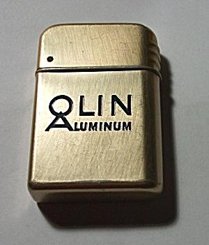 VINTAGE BOWERS ADV. OLIN ALUMINUM LIGHTER (Image1)