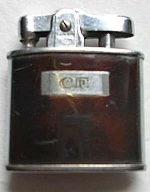 Vintage 1950`s Ronson Brown Enamel Lighter
