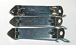 3 DIFFERENT UTICA CLUB BOTTLE OPENERS COMPANIES (Image1)