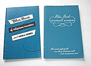2 - 1960`s Blue Book Of Telephone Numbers Unused