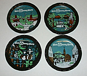 4 DIFFERENT VINTAGE 1960`S WALT DISNEY WORLD COASTERS (Image1)