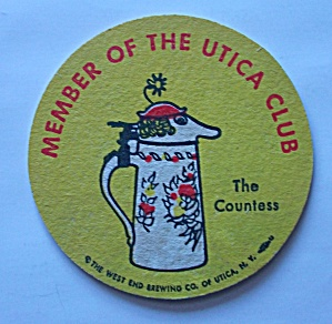 UTICA CLUB BEER COASTER THE COUNTESS (Image1)