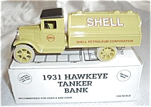 1993 ERTL #B276 SHELL OIL TRUCK 1/34 SCALE BANK (Image1)