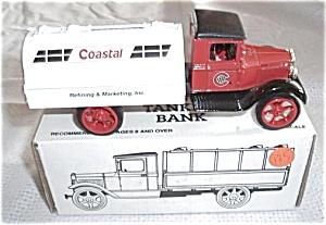 ERTL COASTAL #B393 COASTAL OIL TRUCK BANK SCALE 1/34 (Image1)