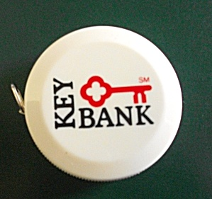 ROUND TAPE MEASURE ADVERTISING KEY BANK OF NEW YORK (Image1)