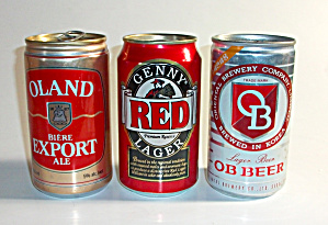 3 VINTAGE OB  LAGER - OLAND ALE - GENNY`S RED LAGER BEE (Image1)