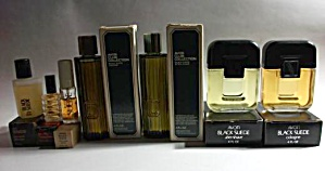 7 Vintage Avon Black Suede Cologne & After Shave W/ Box