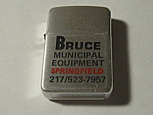 55103 Vintage Usa Advertising Lighter Bruce Municipal