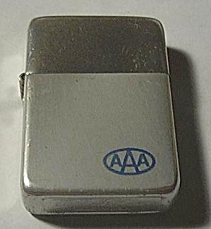 VINTAGED PARK LIGHTER ALUMINUM ADVERTISING AAA (Image1)