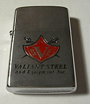 56106 Old Barlow B7 Lighter Advertising Valiant Steel