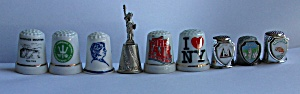 9 DIFFERENT NEW YORK STATE THIMBLES (Image1)