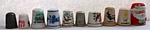 10 DIFFERENT THIMBLES PORCELAIN - METAL - WOOD (Image1)