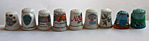 9 DIFFERENT THIMBLES FLORIDA - S.C - NEW HAMPSHIRE MORE (Image1)