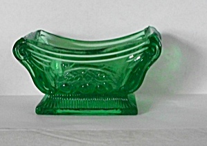 VINTAGE VICTORIAN GREEN DEPRESSION GLASS FINGER BOWL (Image1)