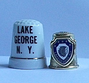 2 VINTAGE LAKE GEORGE NEW YORK THIMBLES (Image1)