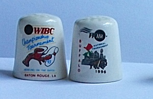 2 ADVERTISING WIBC RADIO BATON ROUGE BUFFALO THIMBLES (Image1)
