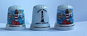 3 OLD LIGHTHOUSE THIMBLES (Image1)