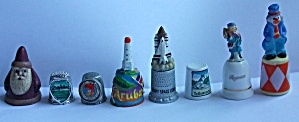 8 DIFFERENT THIMBLES YELLOWSTONE ARUBA CLOWN (Image1)