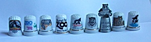 9 DIFFERENT ZOO - AMUSEMENT PARK THIMBLES  (Image1)