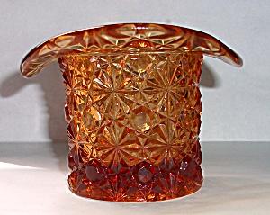 VINTAGE AMBER TOP HAT TOOTH PICK HOLDER (Image1)