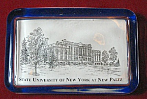 OLD STATE UNIVERSITY OF N.Y. AT NEW PALTZ PAPERWEIGHT (Image1)