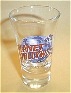 PLANET HOLLYWOOD SAN ANTONIO TALL BOY SHOT GLASS (Image1)