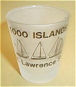 1000 ISLANDS NEW YORK ST. LAWRENCE SEAWAY SHOT GLASS (Image1)