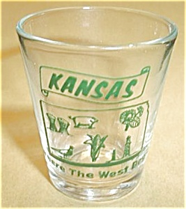 KANSAS WHERE THE WEST BEGINS (GREEN PRINT DECAL) (Image1)