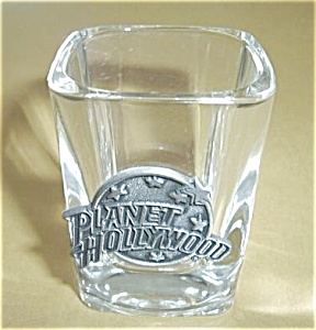 Square Planet Hollywood Shot Glass