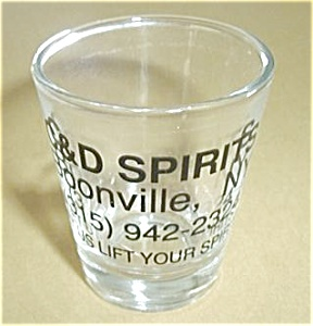 C & D SPIRITS  BOONVILLE NEW YORK SHOT GLASS (Image1)